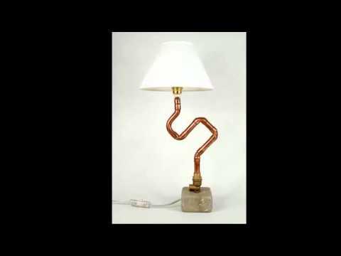 Plumbing pipe industrial vintage steampunk desk lamp