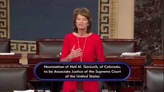 Senator Murkowski Supports Confirmation of Judge Neil Gorsuch for SCOTUS