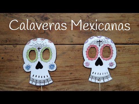 Calavera mexicana, un disfraz para halloween fácil de hacer