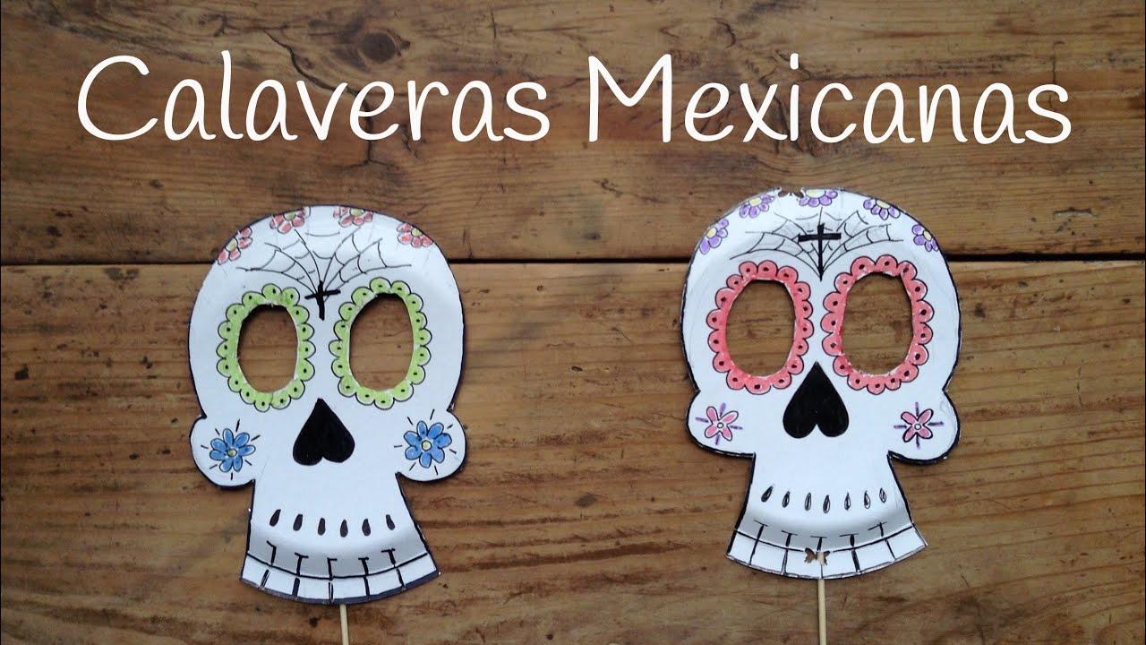 C mo dibujar calaveras mexicanas manualidades para ni os - Como decorar un dibujo de una castana ...