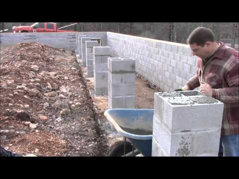 Building My Own Home: Episode 10 -  Back Filling the House Columns