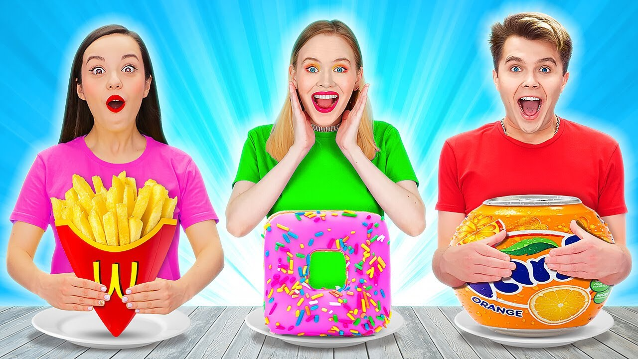 GEOMETRIC SHAPE FOOD CHALLENGE || Last To STOP Eating Funky Gross Impossible Wins By 123 GO! TRENDS
