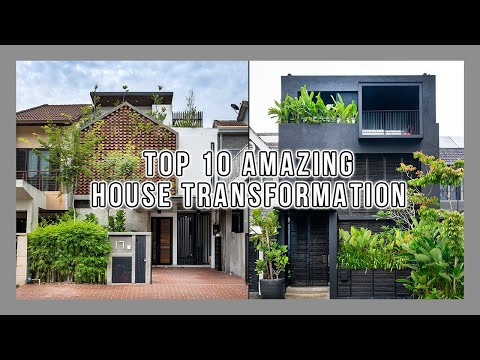 Top10 Malaysian Terrace House Transformation | Architecture Trends2021 | Tropical Homes | Old VS New