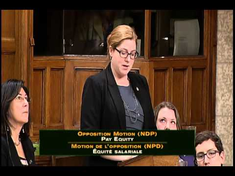 NDP motion on pay equity