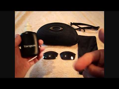 how to properly clean oakley flak jacket lenses
