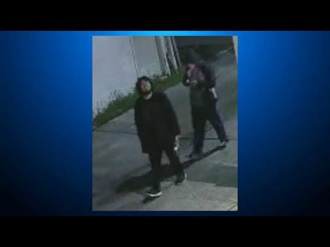 RAW: Surveillance Video Captures Two San Mateo Arson Suspects