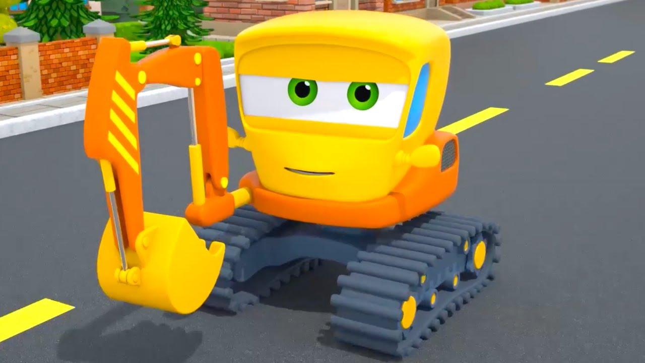 Excavator Helps Little Truck | Motorville - Car Cartoon for Kids