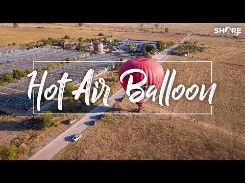 Hot Air Balloon (Experience Video) - Flying above the fields near Novi Iskar (Нови Искър) Drone