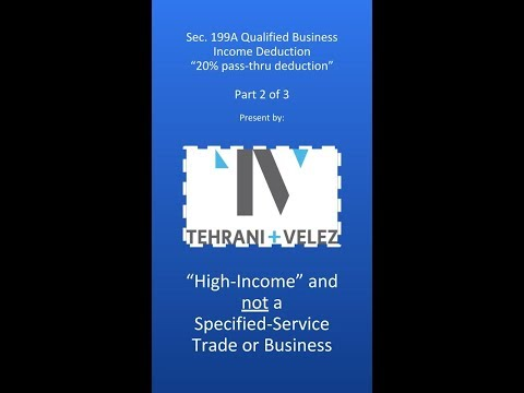Qualified Business Income (Tax) Deduction (2 of 3)