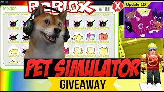 Roblox Pet Simulator Tier 18 Rainbow Pet Giveaway 🔴type! ko per entrare giveaway