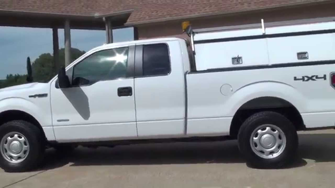 hd video 2012 ford f150 4x4 work utility truck xl for sale see www sunsetmotors com youtube. Black Bedroom Furniture Sets. Home Design Ideas
