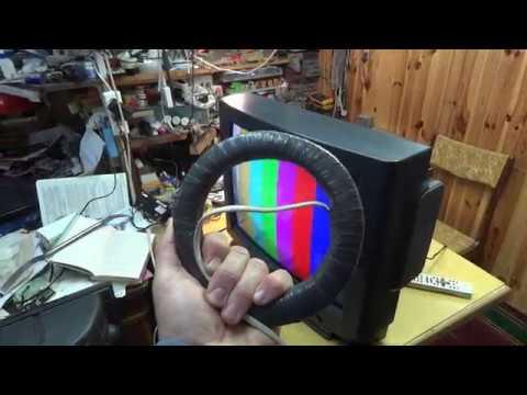 Как размагнитить кинескоп телевизора в домашних условиях видео