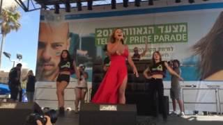 """עדן בן זקן """"מלכת השושנים"""" מצעד הגאווה 2015 Eden Ben Zaken Pride Parade"""