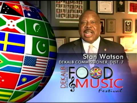 PSA  Commissioner Stan Watson Hosts International Food & Music Festival 2014