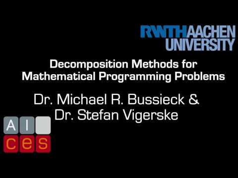 EU Regional School 2013 Part 1with Dr. Michael R. Bussieck & Dr. Stefan Vigerske