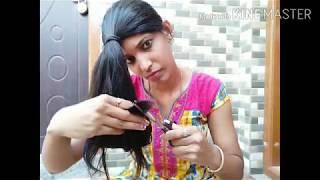 Self U cut/Easy way to cut your own Hair/Cutting