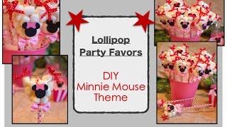 DIY Minnie Mouse Lollipop Theme Party Favors/Decorations