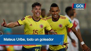 Perú vs Colombia: gol de Mateus Uribe golazo de cabeza para el 2-0