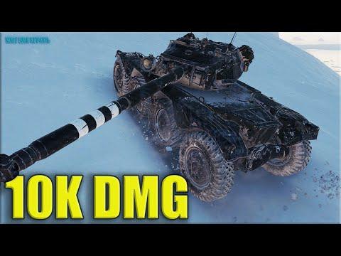 EBR 105 игра за всю команду 10k dmg ✅ World of Tanks лучший бой на ЛТ