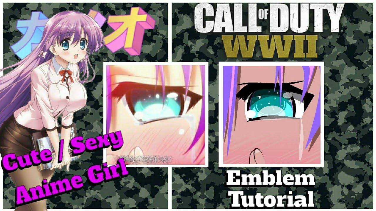 WW2 | Cute / Sexy Anime Girl Emblem Tutorial | CoD World War 2 Emblem Tutorial #4
