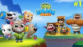 Talking Tom Splash Force Еноты совсем оборзели Похищают животных! Том и Анджела спешат на Помощь