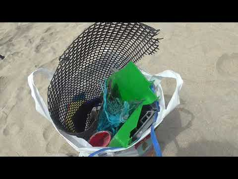 Fill one bag of plastic waste every time you visit a strand