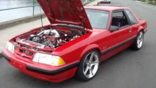 408 Mustang coupe idle and walk around