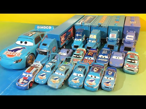 Cars 3 Lightning mcqueen Dinoco Quick Change and race bling bling tomica King jackson storm pixar