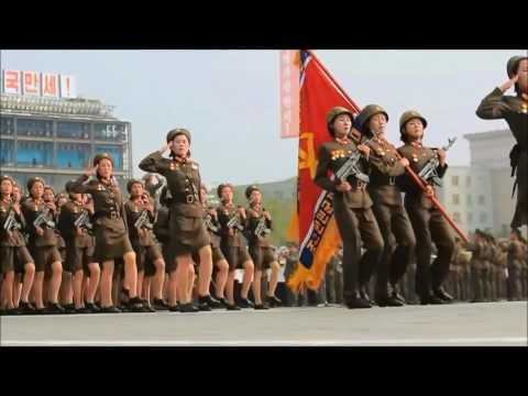 I put spongebob music over north koreans marching.