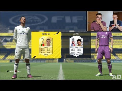 FIFA 17 RONALDO VS ZIDANE!!! Fifa 17 Squad Draft