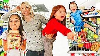 Grocery shopping Haul for 16 KiDS!! - Not Enough Nelsons