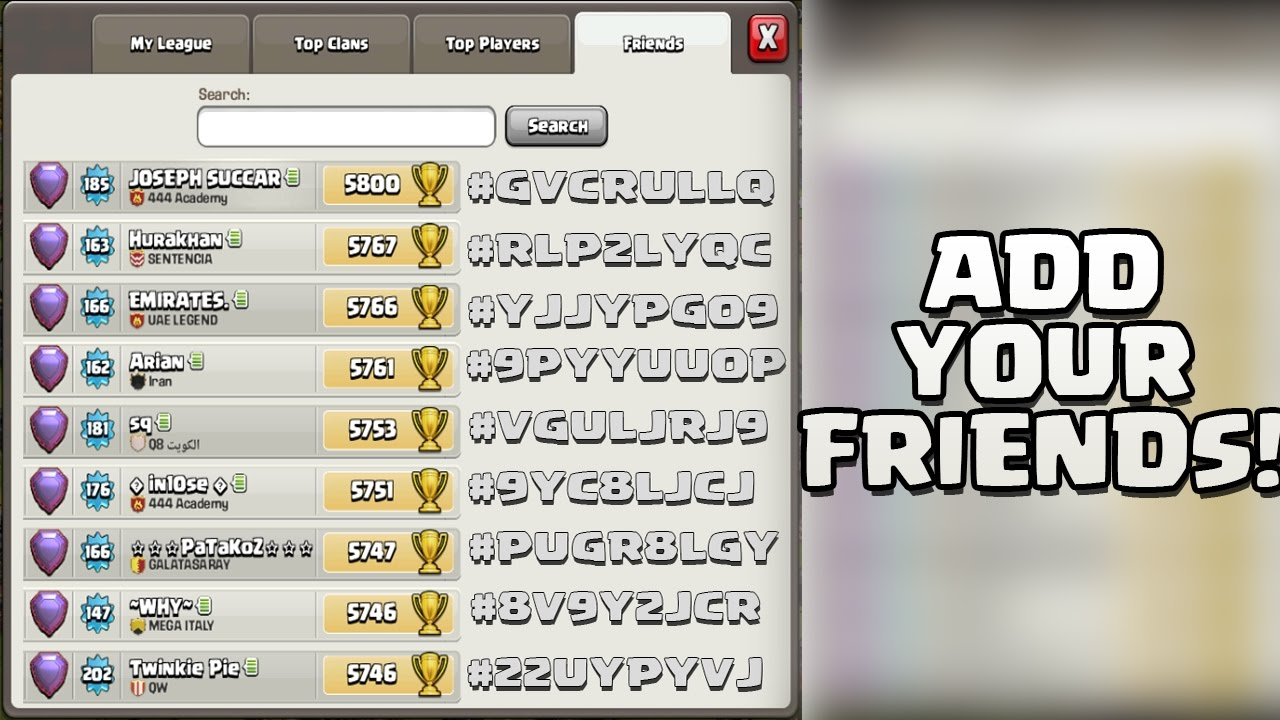 Download ADD YOUR FRIENDS IN CLASH OF CLANS! - Update Recap!
