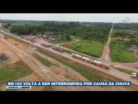 Trafégo na BR-163 volta a ser interrompido no Pará