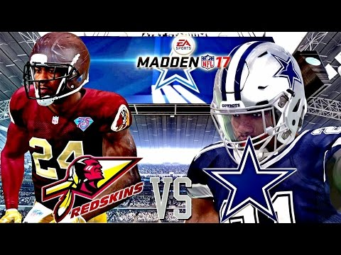 Madden NFL 17 |  🦃 Thanksgiving Day Match Up! | Redskins vs Cowboys Gameplay!