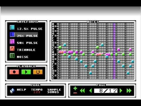 Megalovania in 8bit music maker
