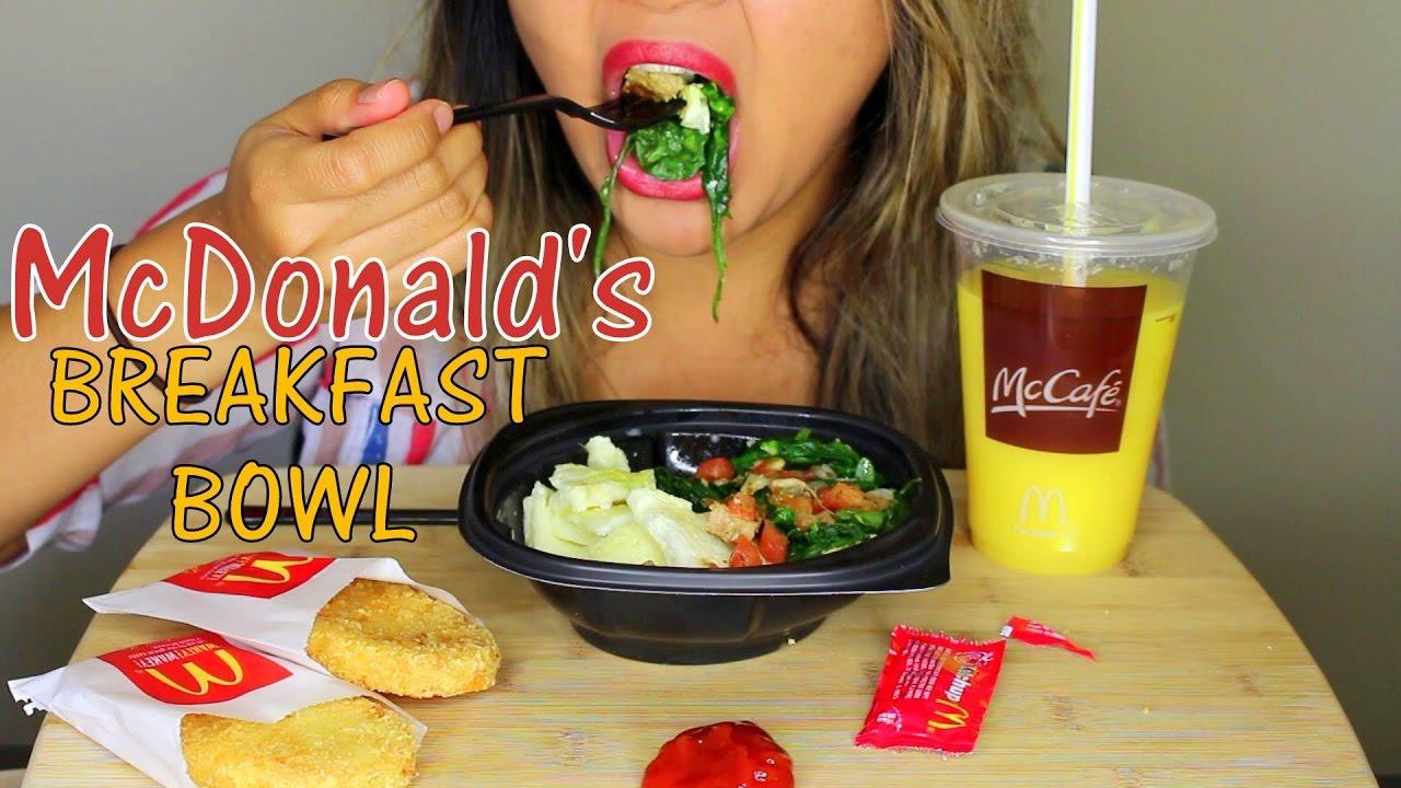 ASMR: McDonald's Breakfast Bowl *Eating Sounds* MUKBANG ...