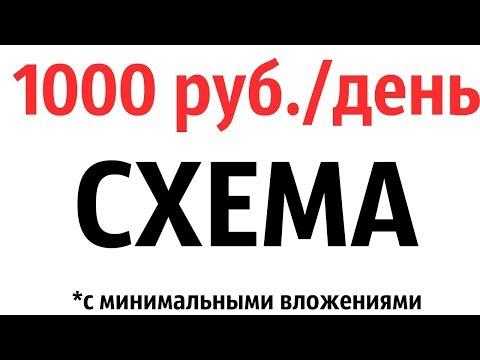 ГОТОВАЯ СХЕМА ЗАРАБОТКА ОТ 1000 РУБЛЕЙ В ДЕНЬ В ИНТЕРНЕТЕ С МИНИМАЛЬНЫМИ ВЛОЖЕНИЯМИ