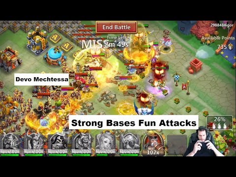 Guild Wars VS 7Seas All 330,000 Might Bases TOUGH FIGHTS Castle Clash