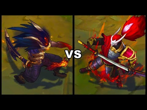 Nightbringer Yasuo Vs Blood Moon Yasuo Skins Comparison (League Of Legends)