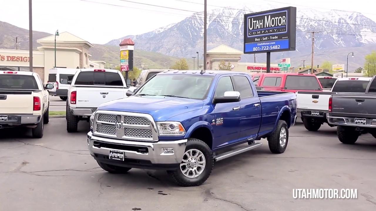 2017 Ram 2500 Laramie Blue Crew 6 7l Mins Sel Manual Utah Motor Company Llc 801 899 4992