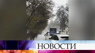 Сотни автомобилей заблокированы на трассах юга России из-за непогоды.