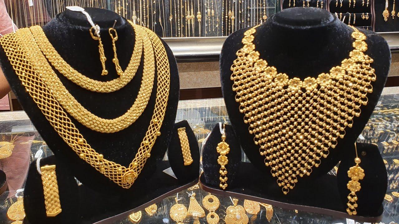 V শেপের সোনার নেকলেস ডুবাইয়ের আফতাব জুয়েলার্সের সেরা কালেকশন /Dubai necklace jewellery