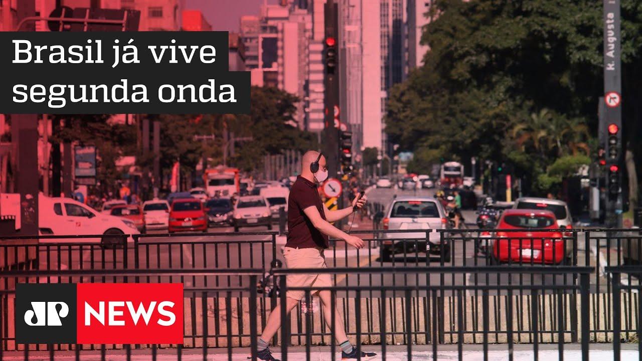 Cientistas apontam que Brasil já está vivendo segunda onda de COVID-19