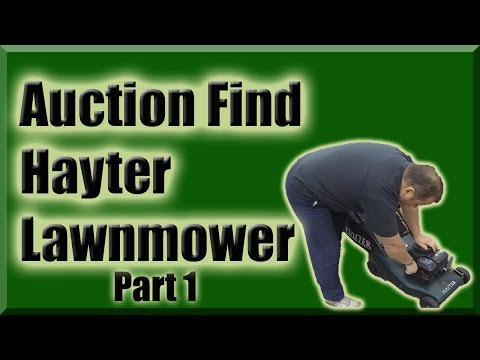 The Auction Find Hayter Lawnmower Part 1 And Building A Raised Bed
