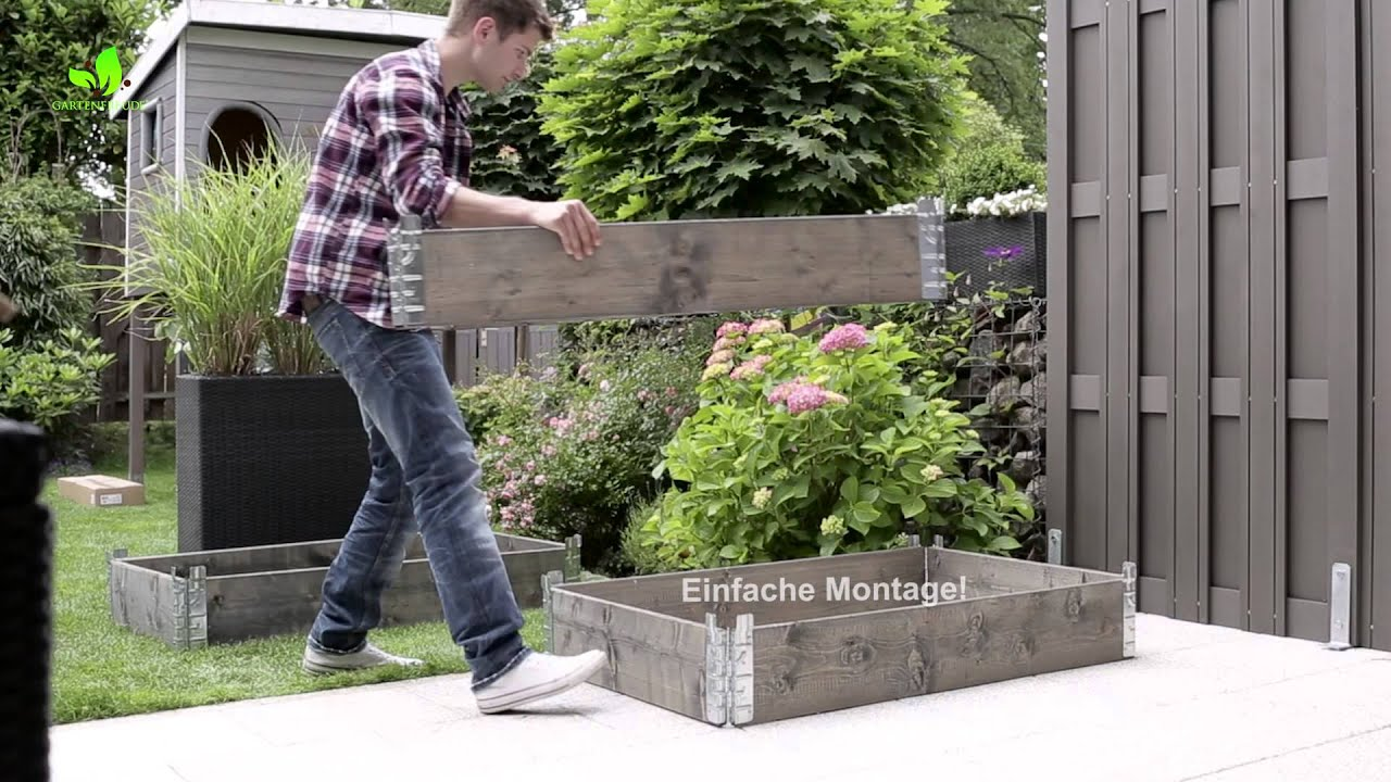 Montagevideo Gartenfreude Holz Hochbeet Youtube