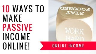 10 ways to make passive income online | Make money from home || Evaknows