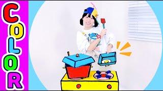 타요 색칠놀이  l 보글보글 주방 색칠하기 l 색깔배우…