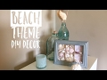 Dollar Tree Beach Theme DIY Collab w/Jay Munee DIY| DIY Beach Theme Bathroom decor| DIY Shadow Box