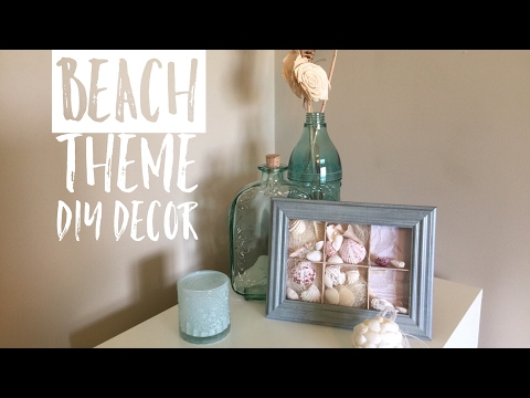 Dollar Tree Beach Theme DIY Collab W/Jay Munee DIY| DIY Beach Theme Bathroom Decor| DIY Shadow Box