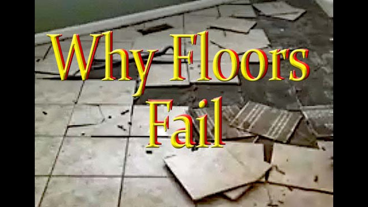 Failed Floor On Cement Backer Boards Why This Happens Youtube